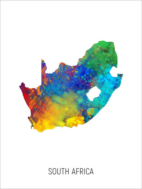 South Africa Map Poster Art Print