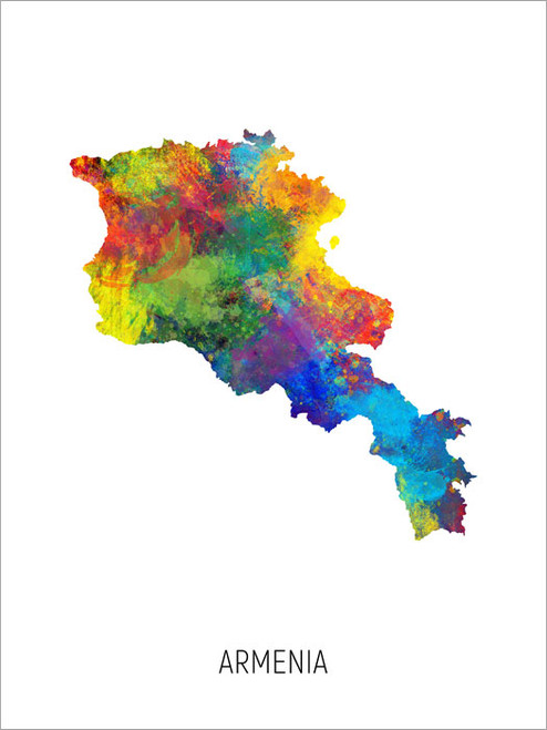 Armenia Map Poster Art Print