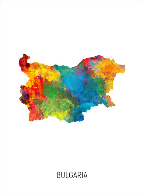 Bulgaria Map Poster Art Print