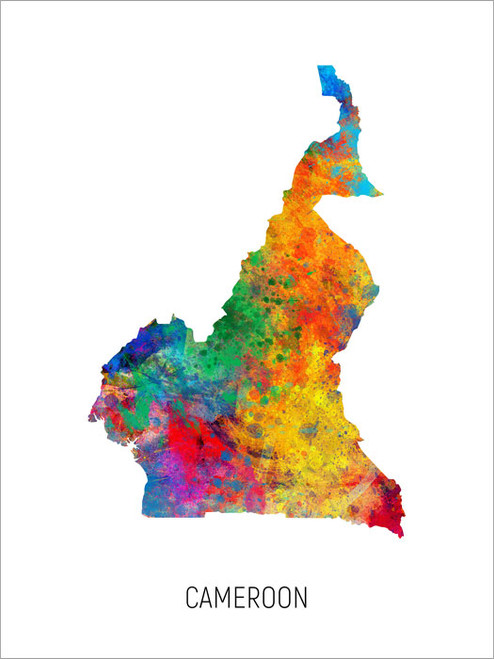 Cameroon Map Poster Art Print