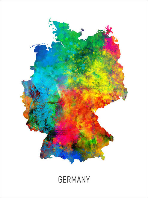 Germany Map Poster Art Print