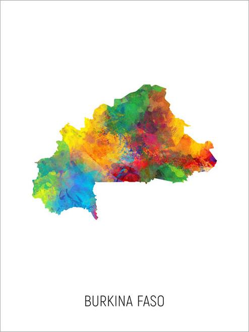 Burkina Faso Map Poster Art Print