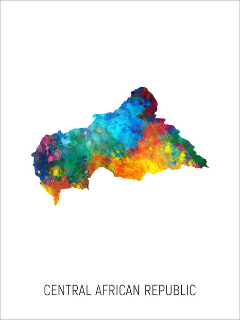 Central African Republic Map Poster Art Print