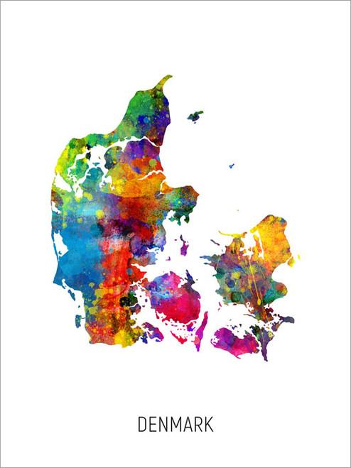Denmark Map Poster Art Print