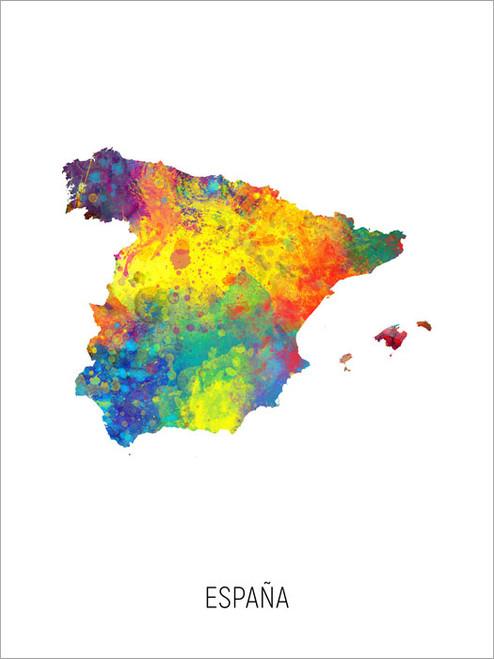 España Map Poster