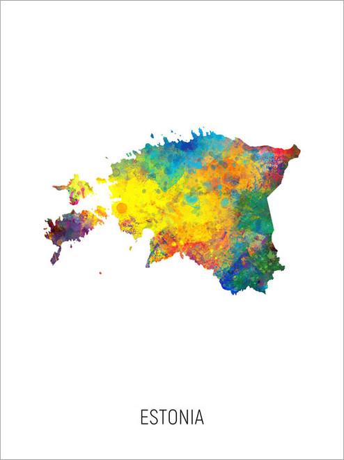 Estonia Map Poster Art Print