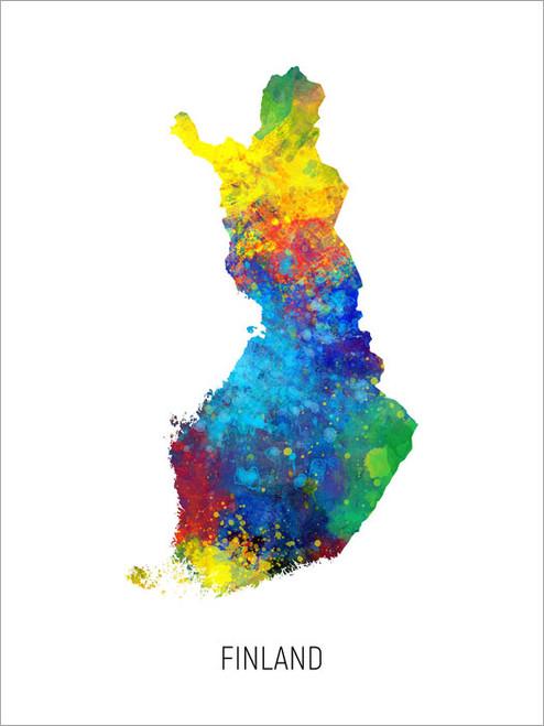 Finland Map Poster Art Print
