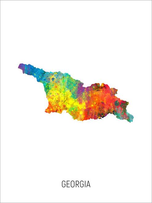 Georgia Map Poster Art Print