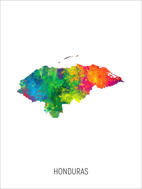 Honduras Map Poster Art Print