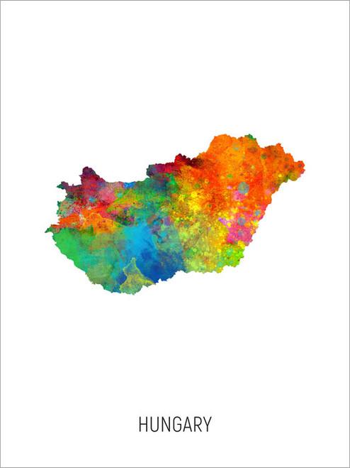 Hungary Map Poster Art Print