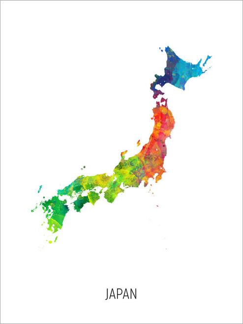 Japan Map Poster Art Print