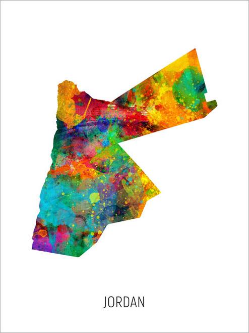 Jordan Map Poster Art Print