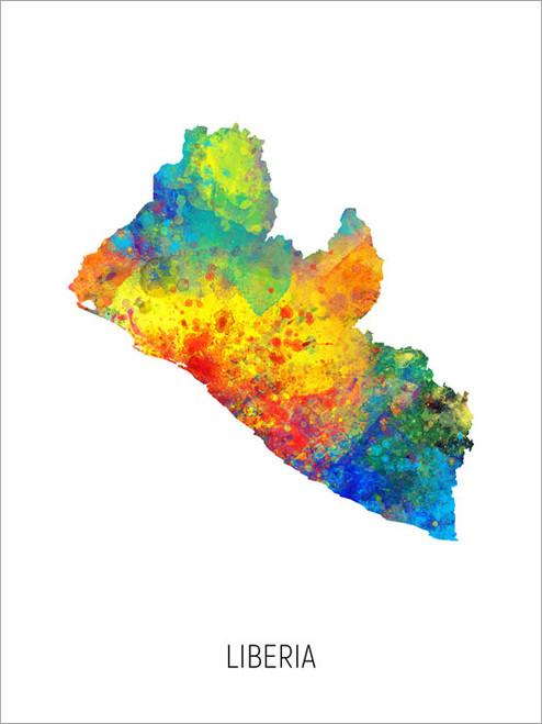 Liberia Map Poster Art Print