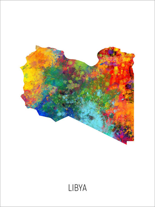 Libya Map Poster Art Print