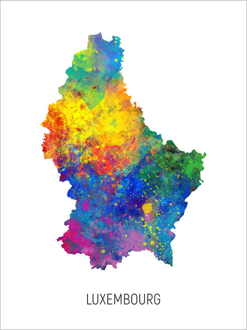 Luxembourg Map Poster Art Print