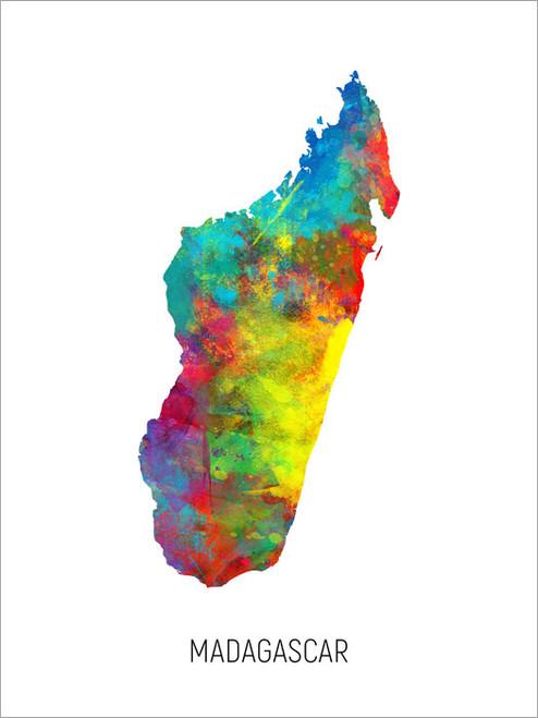 Madagascar Map Poster Art Print