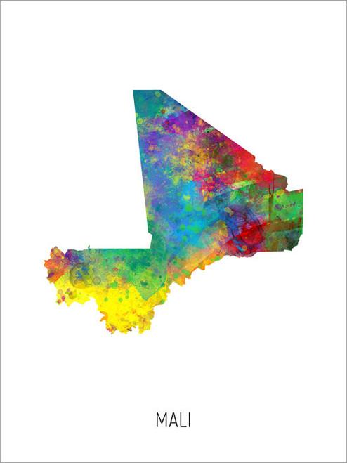 Mali Map Poster Art Print