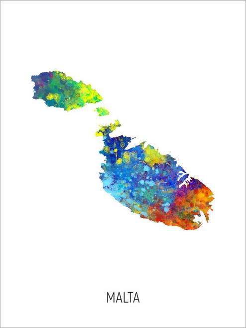 Malta Map Poster Art Print
