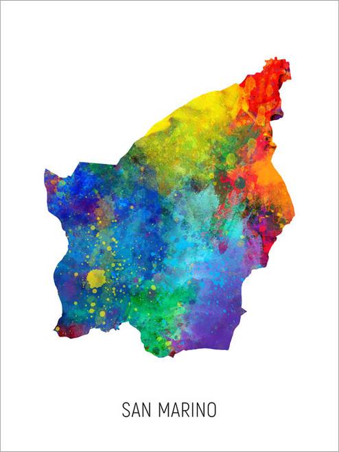 San Marino Map Poster Art Print