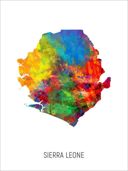 Sierra Leone Map Poster