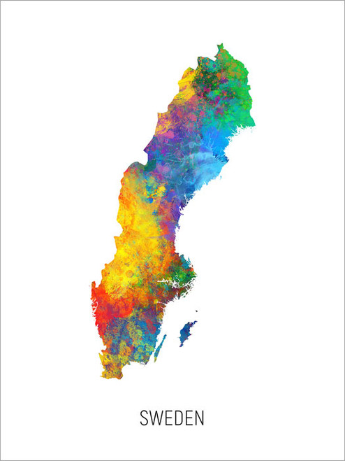 Sweden Map Poster Art Print