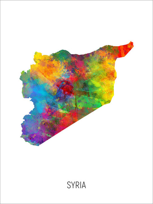 Syria Map Poster Art Print