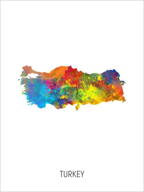 Turkey Map Poster Art Print