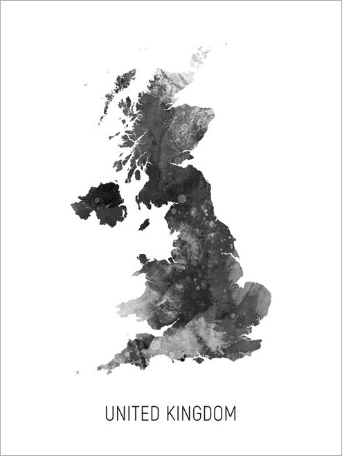 United Kingdom Map Poster Art Print