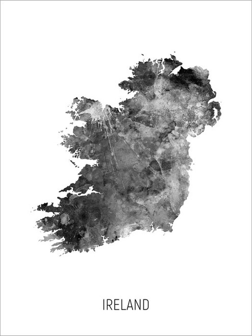 Ireland Map Poster Art Print