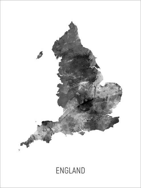 England Map Poster Art Print