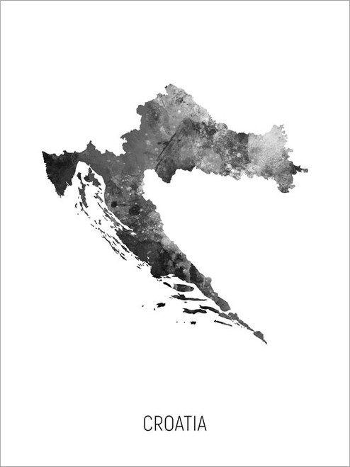 Croatia Map Poster Art Print