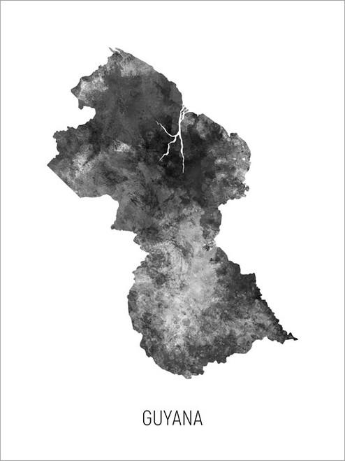 Guyana Map Poster Art Print
