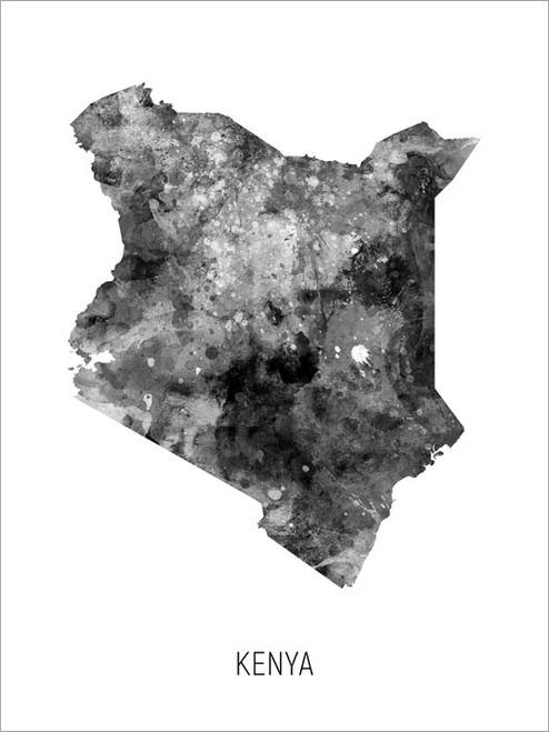 Kenya Map Poster Art Print