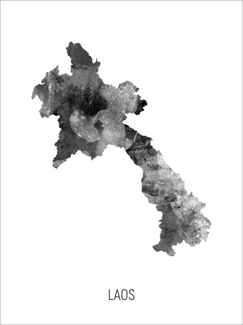 Laos Map Poster Art Print
