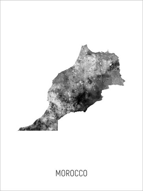 Morocco Map Poster Art Print