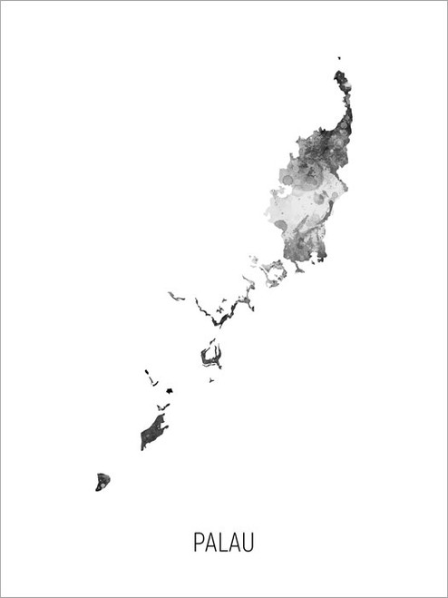 Palau Map Poster Art Print