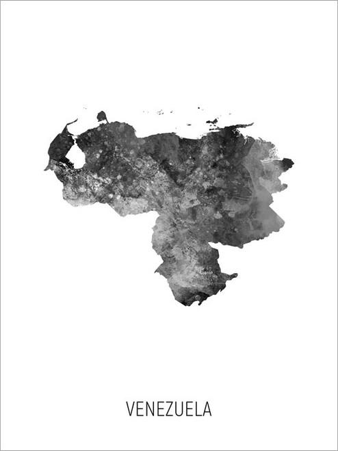 Venezuela Map Poster Art Print