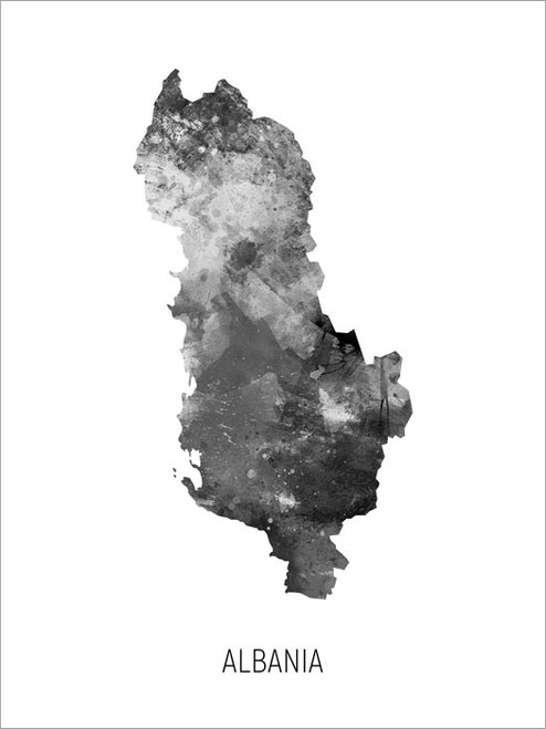 Albania Map Poster Art Print