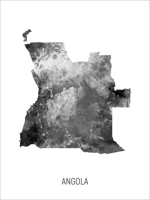 Angola Map Poster Art Print