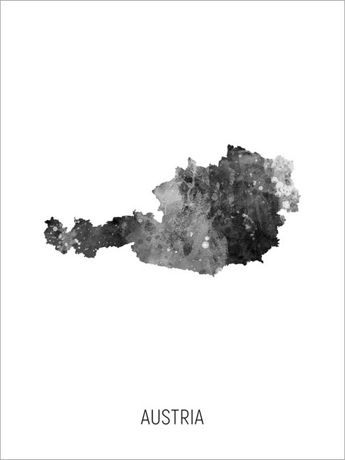 Austria Map Poster Art Print