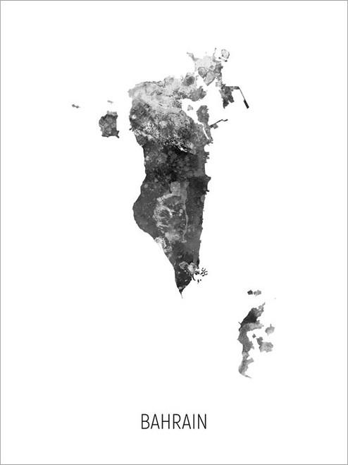 Bahrain Map Poster Art Print