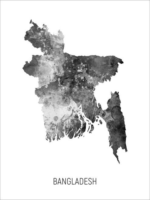Bangladesh Map Poster Art Print