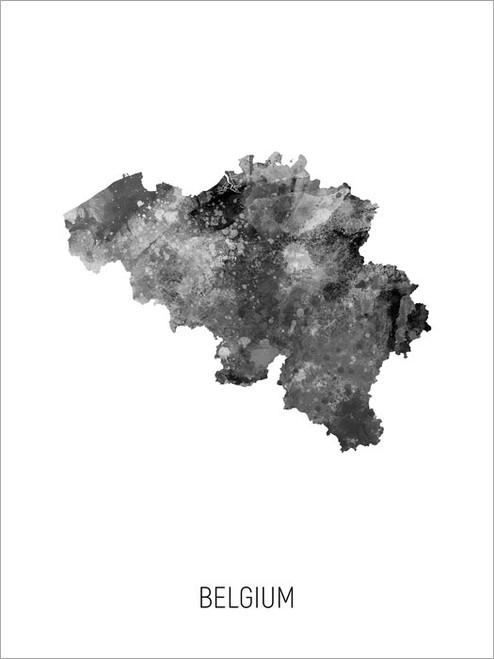 Belgium Map Poster Art Print