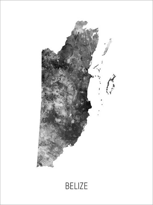 Belize Map Poster Art Print