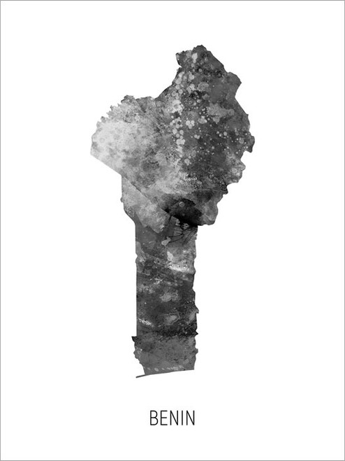 Benin Map Poster Art Print