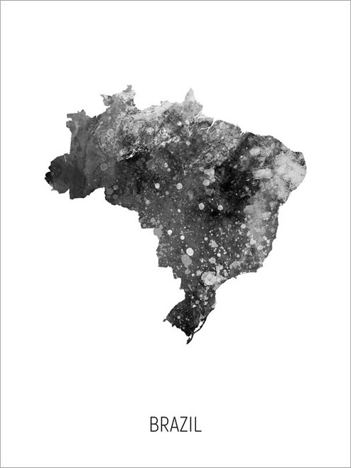 Brazil Map Poster Art Print