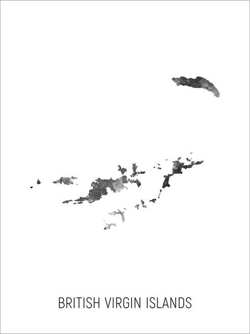 British Virgin Islands Map Poster Art Print