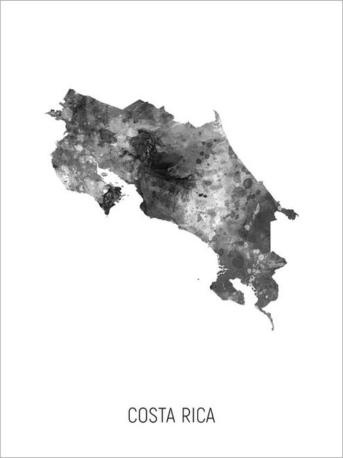 Costa Rica Map Poster Art Print
