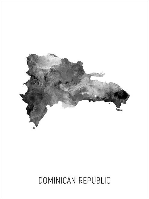 Dominican Republic Map Poster Art Print