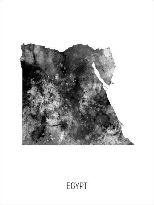 Egypt Map Poster Art Print